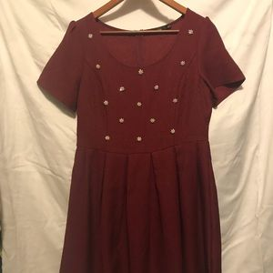 Mod Cloth Doe & Rae Red Dress